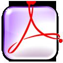 Иконка pdf, acroread 128x128
